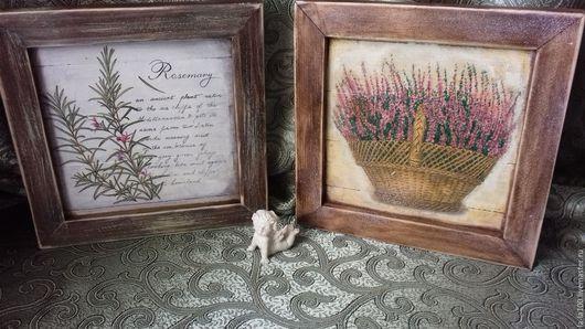 """Картины цветов ручной работы. Ярмарка Мастеров - ручная работа. Купить Панно для интерьера кухни """" Травы. Вереск """". Handmade."""