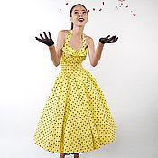 """Одежда ручной работы. Ярмарка Мастеров - ручная работа Ретро платье в стиле 50-х """"Лимонник"""". Handmade."""