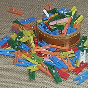 Материалы для творчества ручной работы. Ярмарка Мастеров - ручная работа Прищепки мини деревянные 2,5 см. Handmade.