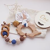 Работы для детей, handmade. Livemaster - original item Juniper rodent, the first toy of the baby. Handmade.
