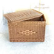 Для дома и интерьера ручной работы. Ярмарка Мастеров - ручная работа Плетеный короб с крышкой Классика. Handmade.