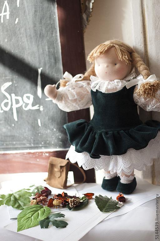 Вальдорфская игрушка ручной работы. Ярмарка Мастеров - ручная работа. Купить Вальдорфская кукла Первоклашка. Handmade. Вальдорфская кукла, первоклассница