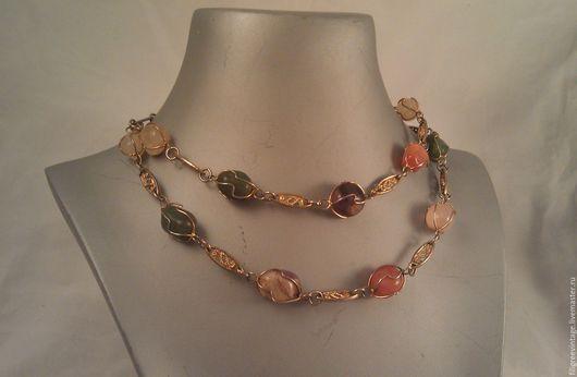 Винтажные украшения. Ярмарка Мастеров - ручная работа. Купить Винтажное ожерелье из натуральных камней. США 60-е. Handmade.