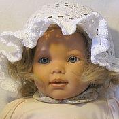 Работы для детей, handmade. Livemaster - original item PANAMA WHITE fishnet, head circumference 50-52 cm. Handmade.