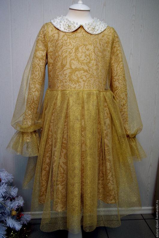 Одежда для девочек, ручной работы. Ярмарка Мастеров - ручная работа. Купить Двойное платье для девочки. Handmade. Абстрактный