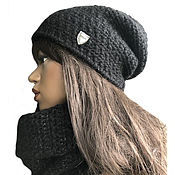 Аксессуары handmade. Livemaster - original item Hat and snood set
