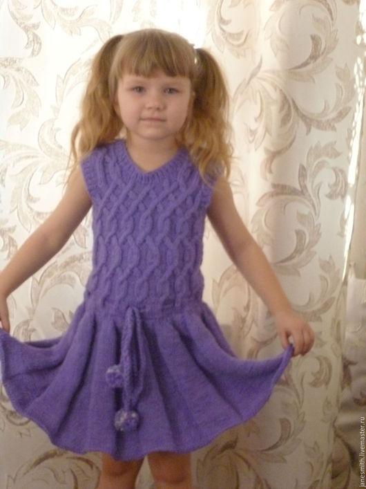 Одежда для девочек, ручной работы. Ярмарка Мастеров - ручная работа. Купить вязаный сарафан. Handmade. Одежда для девочек