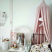 """Балдахин для кроватки ручной работы. Ярмарка Мастеров - ручная работа Розовый шатер """"Ариадна"""" для детской кроватки / Балдахин игровой зоны. Handmade."""