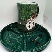 """Чайные пары ручной работы. Ярмарка Мастеров - ручная работа Керамическая чайная пара """" Тоторо и Мэй"""". Handmade."""