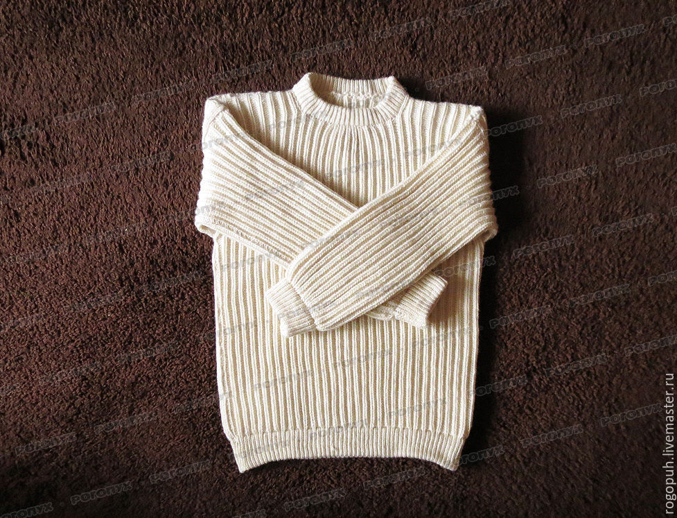 Sweater from sheep wool without a collar, that light (No. №3), Sweaters, Nalchik,  Фото №1