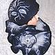 Шляпы ручной работы. Заказать Шляпка валяная «Туманный вечер». Горбунова Оксана   «EVOLET». Ярмарка Мастеров. Шляпка женская