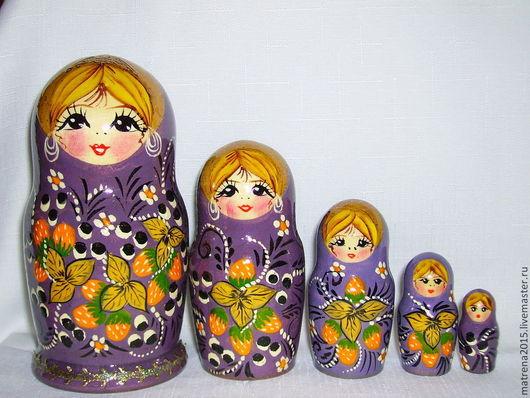 Матрешки ручной работы. Ярмарка Мастеров - ручная работа. Купить Матрешка''Варя''5 кукол Ярмарка мастеров-ручная работа. Handmade. Разноцветный