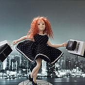 """Куклы и игрушки ручной работы. Ярмарка Мастеров - ручная работа Авторская кукла """"Шопинг"""" (Продана). Handmade."""