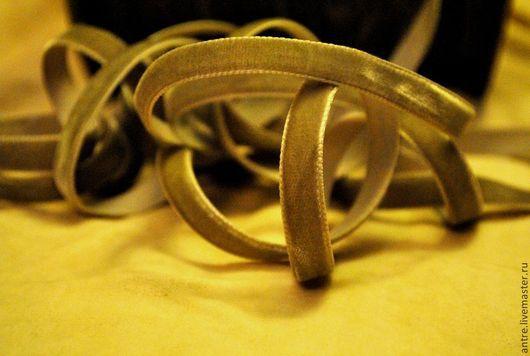 """Шитье ручной работы. Ярмарка Мастеров - ручная работа. Купить Бархатная лента """"Пыльная оливка"""" (Швеция). Handmade. Лента"""