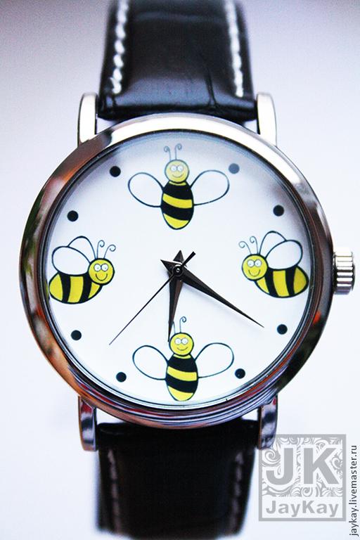 """Часы ручной работы. Ярмарка Мастеров - ручная работа. Купить Часы наручные JK """"Пчелки"""". Handmade. Часы"""