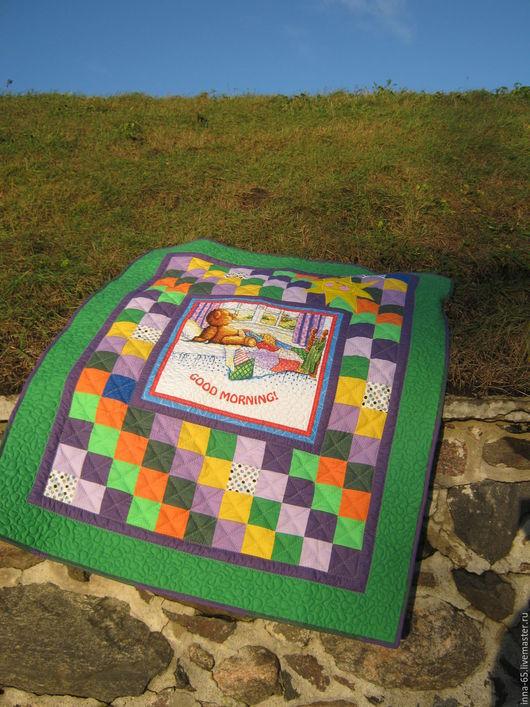 Пледы и одеяла ручной работы. Ярмарка Мастеров - ручная работа. Купить Детское лоскутное одеялко для мальчика. Handmade. Комбинированный