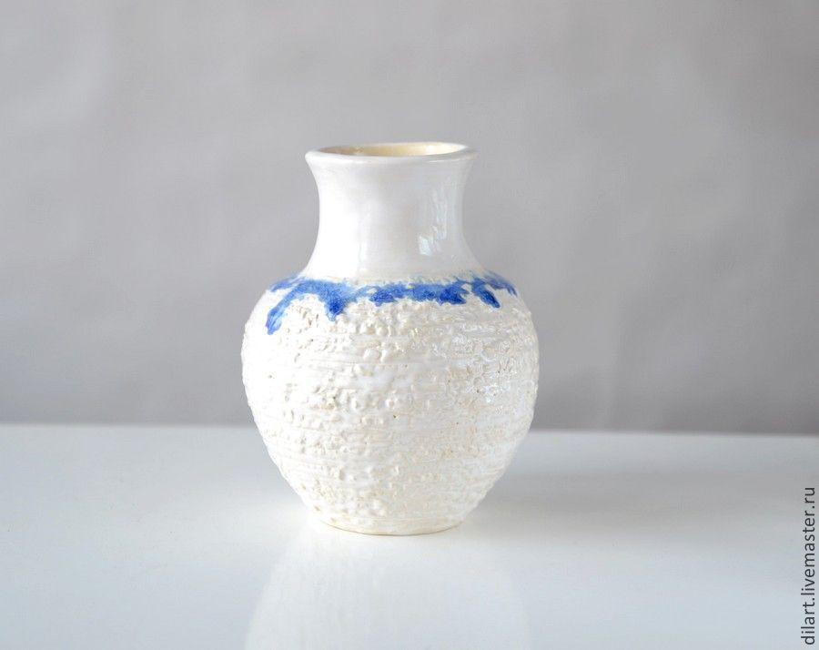 Керамическая ваза Зима, Вазы, Москва,  Фото №1