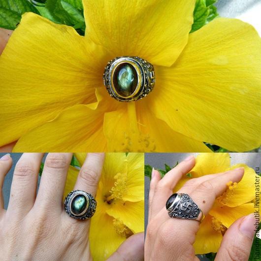 Кольца ручной работы. Ярмарка Мастеров - ручная работа. Купить Перстень Знак Солнца с лабрадором из серебра 925 пробы. Handmade.