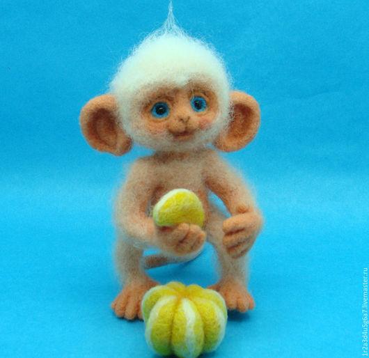 Игрушки животные, ручной работы. Ярмарка Мастеров - ручная работа. Купить Обезьяний детёныш Долька. Handmade. Комбинированный, интерьерная игрушка