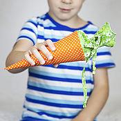 Подарки к праздникам ручной работы. Ярмарка Мастеров - ручная работа Фунтик - морковка для Пасхального подарка.. Handmade.