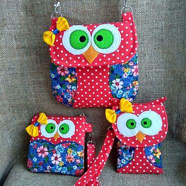Works for children handmade. Livemaster - original item Handbag, wallet, cell phone case. Gift set for girl.. Handmade.