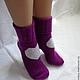 Носки, чулки ручной работы. Носки вязаные. Носочки вязаные «Сердечки» из коллекции «Подарки». Olgafrancesca . Ярмарка мастеров.
