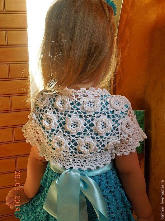 """Одежда для девочек, ручной работы. Ярмарка Мастеров - ручная работа. Купить Болеро """"Белые Розы"""". Handmade. Белый, болеро для девочки"""