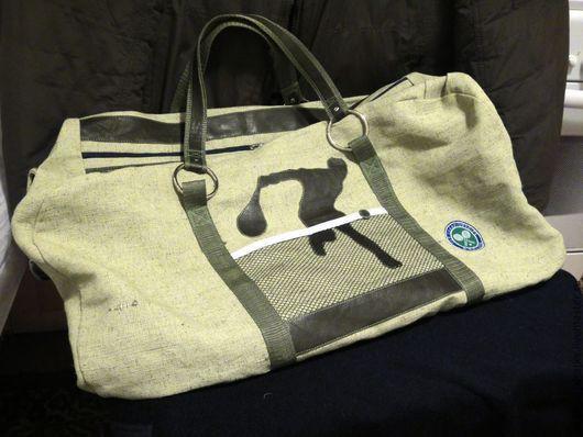 Спортивные сумки ручной работы. Ярмарка Мастеров - ручная работа. Купить Мужская сумка спортивная через плечо Теннис Брезент Подарок мужчине. Handmade.