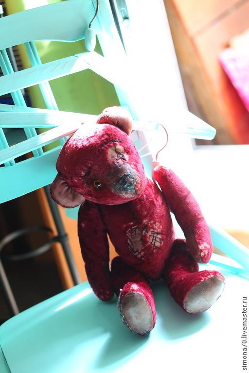 """Мишки Тедди ручной работы. Ярмарка Мастеров - ручная работа. Купить Винтажная мишка """"Розочка""""  в продаже. Handmade. Винтажный плюш"""