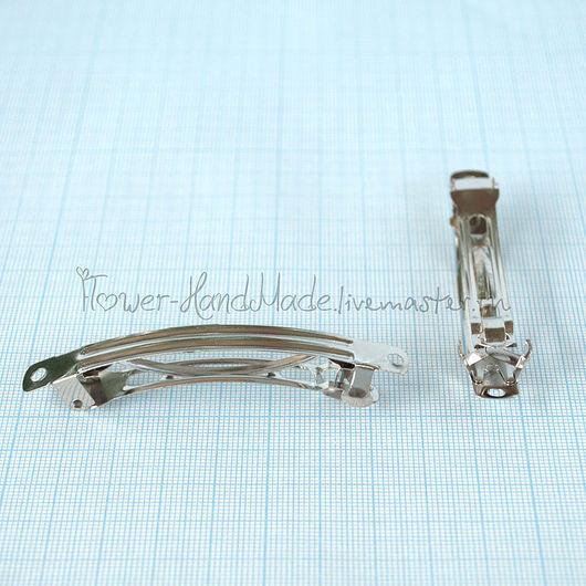 Для украшений ручной работы. Ярмарка Мастеров - ручная работа. Купить Ф002 Основа для заколки-автомат 7,7 см. Handmade.