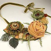 Украшения handmade. Livemaster - original item Sun - Olive Sketch. Necklace. Handmade.