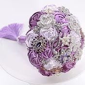 Свадебный салон handmade. Livemaster - original item Wedding bouquet of the bride. Brooch bouquet,Margot.