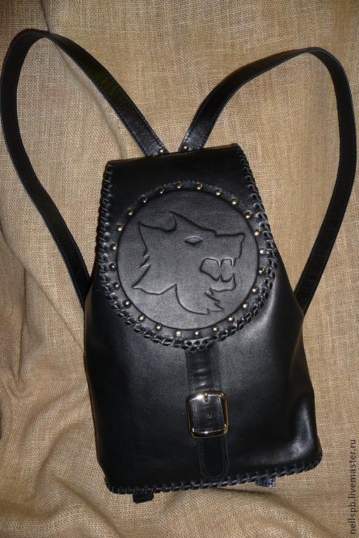 """Рюкзаки ручной работы. Ярмарка Мастеров - ручная работа. Купить Рюкзак """"Волк"""". Handmade. Рюкзак, рюкзачок, черный"""