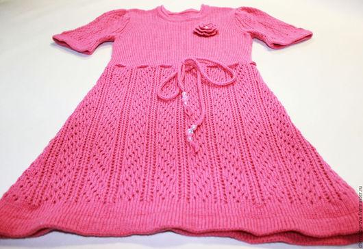 Одежда для девочек, ручной работы. Ярмарка Мастеров - ручная работа. Купить Детское вязаное платье Розовая роза. Handmade.