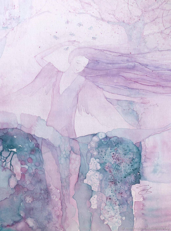 А утром танцевали бабочки. Авторская акварель, Картины, Краснодар,  Фото №1