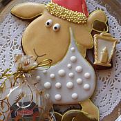 Сувениры и подарки ручной работы. Ярмарка Мастеров - ручная работа Овечка-Санта с мешком.. Handmade.