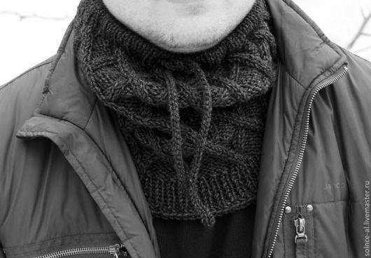 """Шарфы и шарфики ручной работы. Ярмарка Мастеров - ручная работа. Купить Снуд """"Ромб"""". Handmade. Снуд мужской, снуд для мужчины"""
