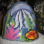 """Для дома и интерьера ручной работы. Ярмарка Мастеров - ручная работа Банная шапка """"Сны дайвера"""". Handmade."""