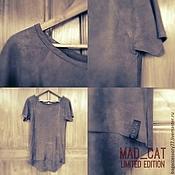 Одежда handmade. Livemaster - original item T-shirt made of genuine leather. Handmade.