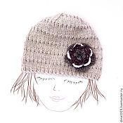 Работы для детей, ручной работы. Ярмарка Мастеров - ручная работа шапочка для девочки, шапка детская, бохо стиль, бежевый. Handmade.