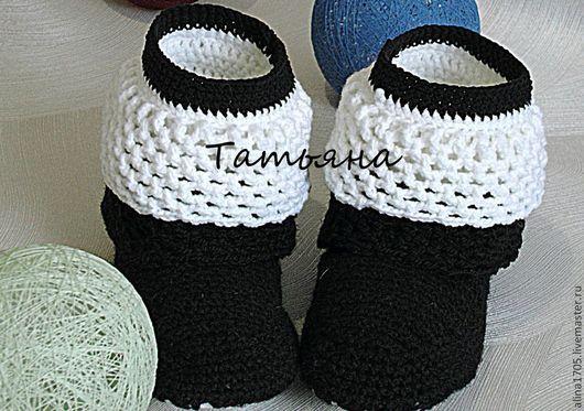 Обувь ручной работы. Ярмарка Мастеров - ручная работа. Купить Вязаные сапожки  Нарядные (вязаные сапоги, для дома, вязаная обувь). Handmade.