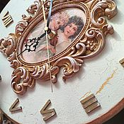 Для дома и интерьера ручной работы. Ярмарка Мастеров - ручная работа Часы настенные Ангелы Часы авторские. Handmade.