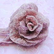 """Украшения ручной работы. Ярмарка Мастеров - ручная работа Валяная брошь """"Пепел розы"""". Handmade."""