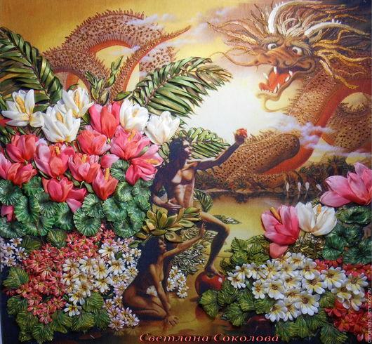 Картины цветов ручной работы. Ярмарка Мастеров - ручная работа. Купить Библейский сюжет. Handmade. Комбинированный, картина для интерьера, цветы