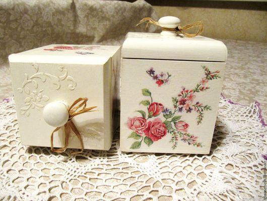 """Кухня ручной работы. Ярмарка Мастеров - ручная работа. Купить коробочки для специй декупаж """"Нежность цветов"""". Handmade. Коробочка для мелочей"""