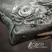 Классическая сумка ручной работы. Ярмарка Мастеров - ручная работа Сумка женская валяная Розы в росе. Handmade.