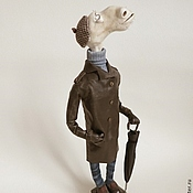 Куклы и игрушки ручной работы. Ярмарка Мастеров - ручная работа вполне приличный гражданин - символ 2014 года.. Handmade.