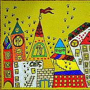 """Канцелярские товары ручной работы. Ярмарка Мастеров - ручная работа Обложка на паспорт """"Кошкин дом"""". Handmade."""