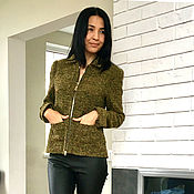Одежда handmade. Livemaster - original item Chanel style jacket, wool jacket, women`s jacket. Handmade.