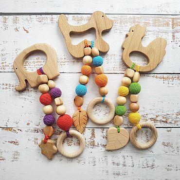 Работы для детей, ручной работы. Ярмарка Мастеров - ручная работа Мини-грызунок (прорезыватель). Handmade.